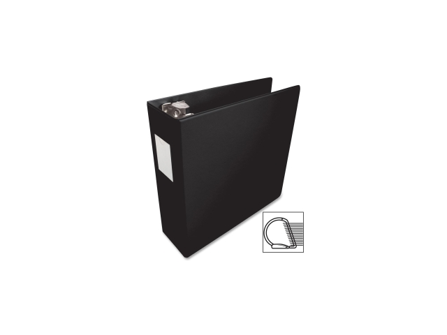 D-Ring Binder w/Label Holder Hvy-Dty 3