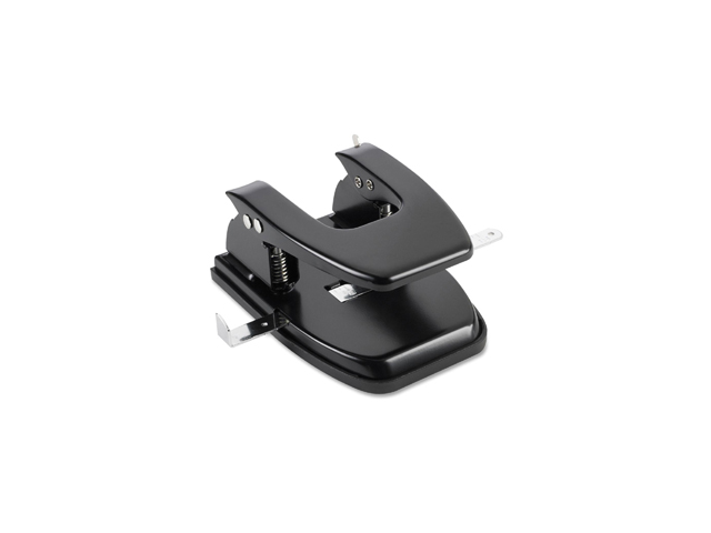 Business Source 65626 Heavy-duty Hole Punch, 2 Punch Head(s) - 30 Sheet Capacity - 1/4
