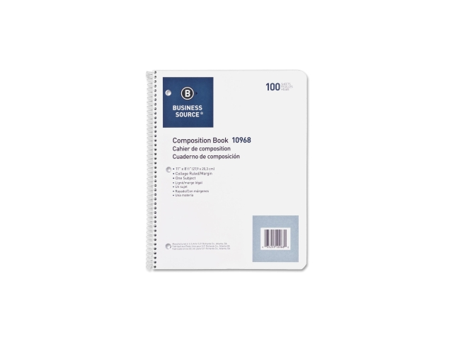 Wirebound Notebooks 3-Hole Colg Rule 8-1/2
