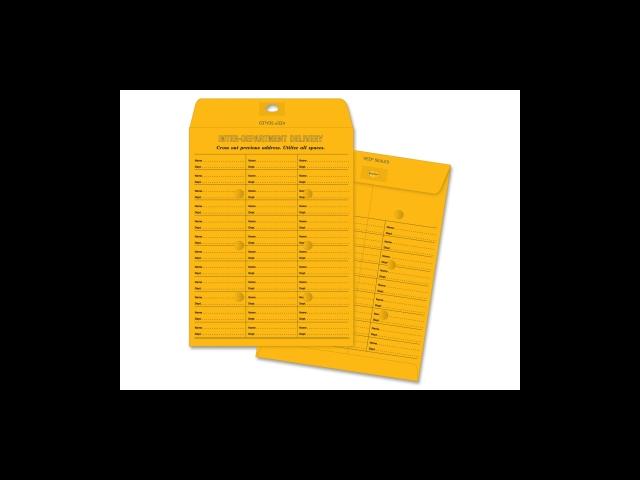 Inter-Dept Envelopes 28 lb. Self-Seal 10