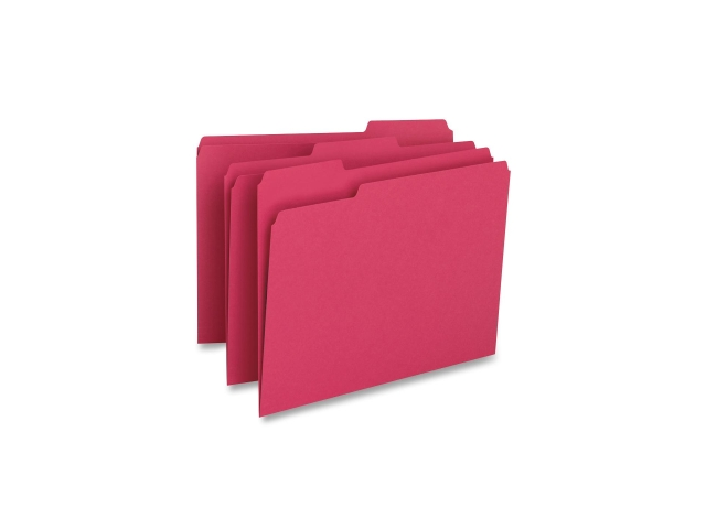 File Folder 1-Ply 1/3 Cut Assorted Tabs Letter 100/BX RD