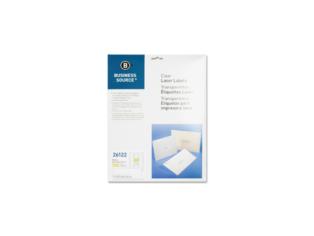 Business Source 26122 Clear Mailing Label 1