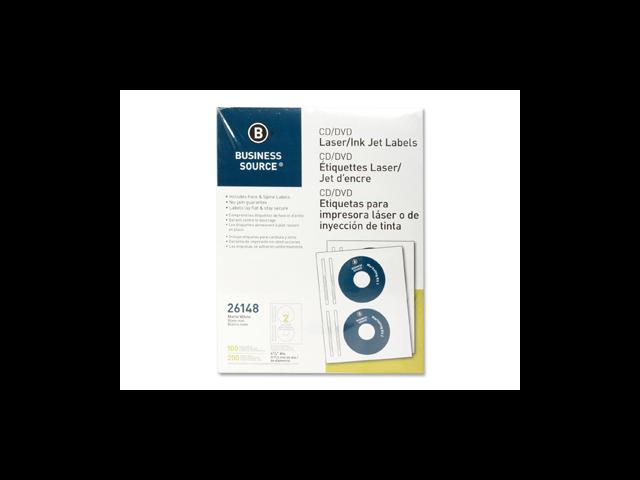 CD/DVD Labels Laser/Inkjet 100/PK White
