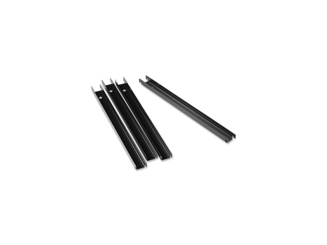 Rail Kit f/Lateral Files Front-to-Back 4/BX Black