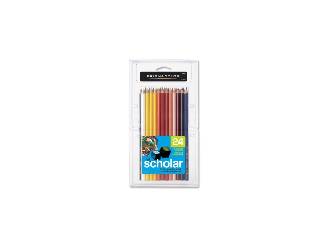 Sanford Ink 92805 Scholar Colored Woodcase Pencils  24 Assorted Colors/set