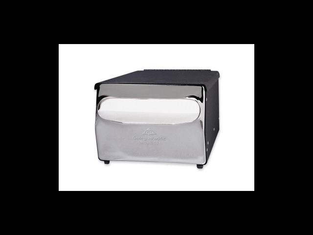 Georgia-Pacific MorNap Cafeteria Model Napkin Dispenser  - Steel - Black