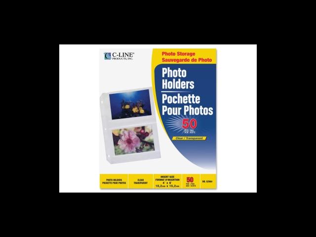 C-line 3-Hole Polypropylene Photo Protector 50 EA/BX