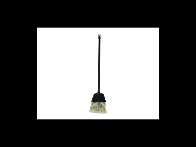 Angled Broom f/Lobby Dust Pan Kit Plastic Black