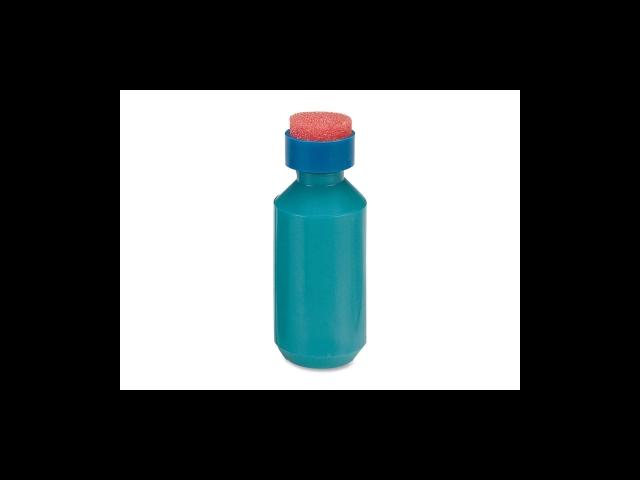 Squeeze Moistener Bottle 2 oz. Capacity Unbreakable Blue