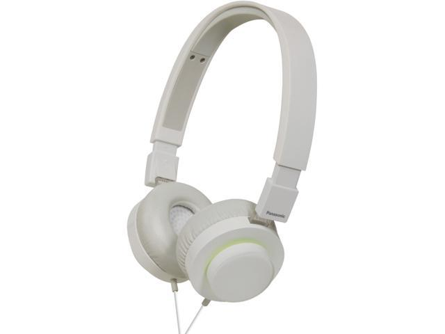 Panasonic White with Green Glow Accent RP-HXD5C-W 3.5mm Connector Supra-aural Over-the-head Headphone