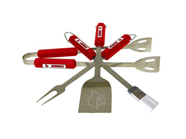Bsi Products 61032 4 Pc Bbq Set - Louisville Cardinals