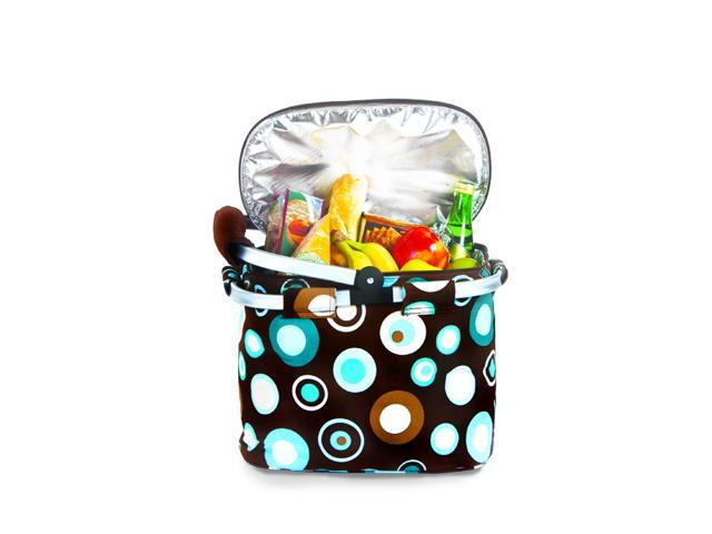 Picnic Plus Shelby Collapsible Market Tote-Cafe Ole