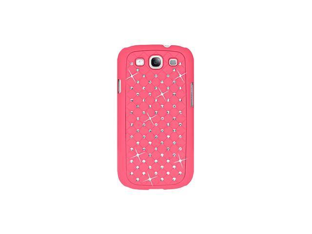Amzer Diamond Lattice Snap On Shell Case - Hot Pink For Samsung GALAXY S III GT-I9300