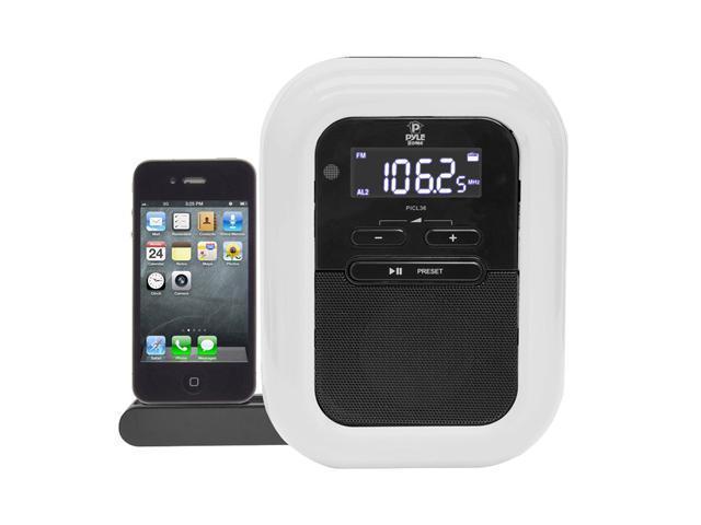 PyleHome - PICL36B - Clock Radio iPOD/Iphone Docking Station w/FM Receiver & Dual Alarm Clock