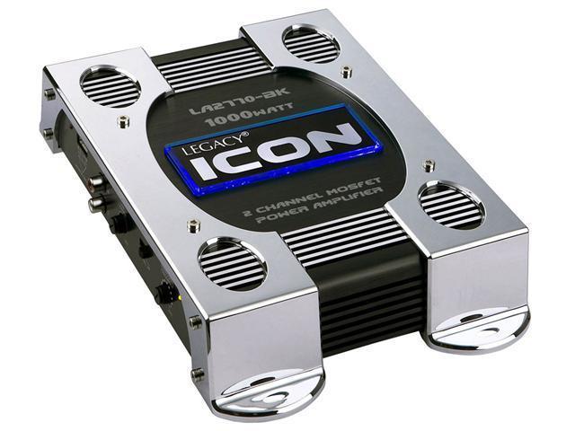2 Channel 1000 Watt Bridgeable Mosfet Amplifier (Black)