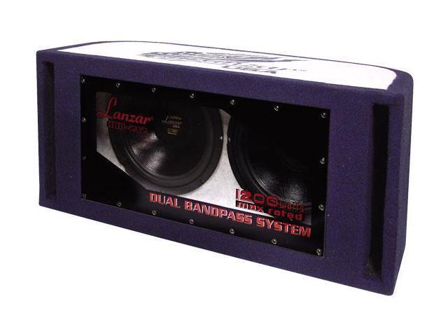 Lanzar - 1200 Watt Dual 12'' Bandpass Subwoofer System