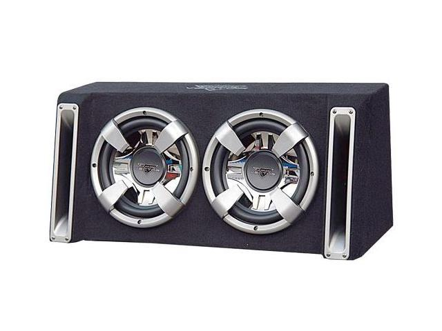 Lanzar - Vector 2000 Watts Dual 10'' Slim Designed Bass Box Enclosure