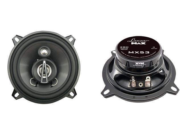 Lanzar - 5.25'' 140 Watts 3 Way Triaxial Speakers