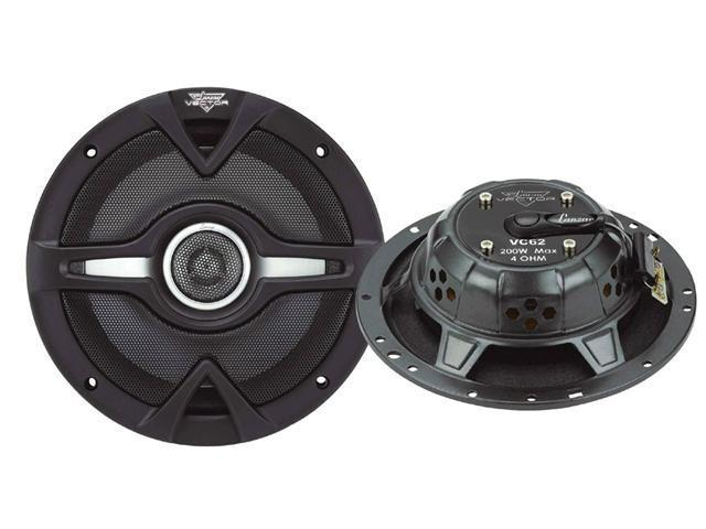 Lanzar - Vector 6.5'' 200 Watts 2-Way Slim Speakers