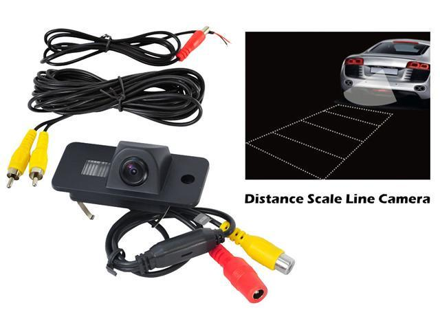 Pyle - Audi Vehicle Specific Infrared Rear View Backup Camera with Distance Scale Line