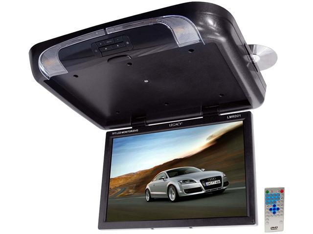 Legacy - TFT Flip Down Roof Mount W/ Built-In DVD/SD/USB Player/Wireless FM Modulator & IR Transmitter