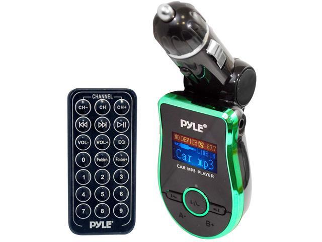 Pyle - Mobile SD/USB/AUX/MP3 Compatible Player w/ Built-In FM Transmitter (Green Color)