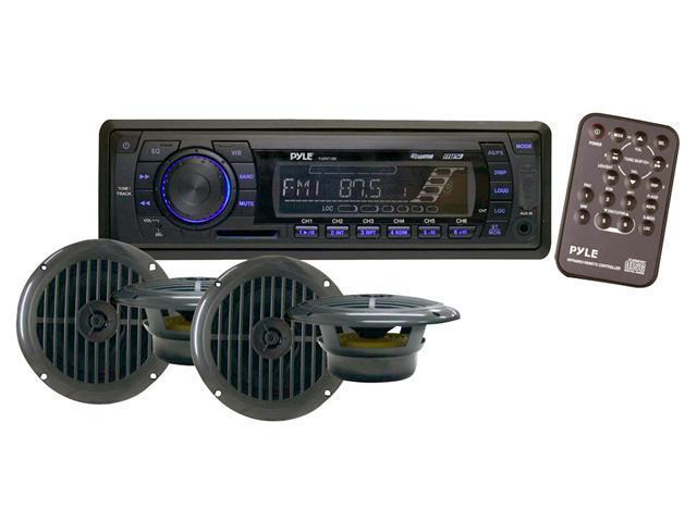 Pyle - In-Dash Marine AM/FM PLL Tuning Radio w/ USB/SD/MMC Reader