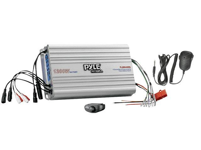 Pyle - 4 Channel Marine Power Amplifier/Public Address System