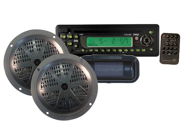 Pyle - Waterproof Marine CD/MP3 Player Receiver w/ Speaker & Splash Proof Radio Cover (Refurbished)