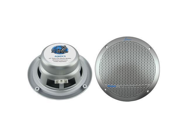 Lanzar - 360 Watts 6.5'' Dual Cone Marine Speakers (Silver Color)