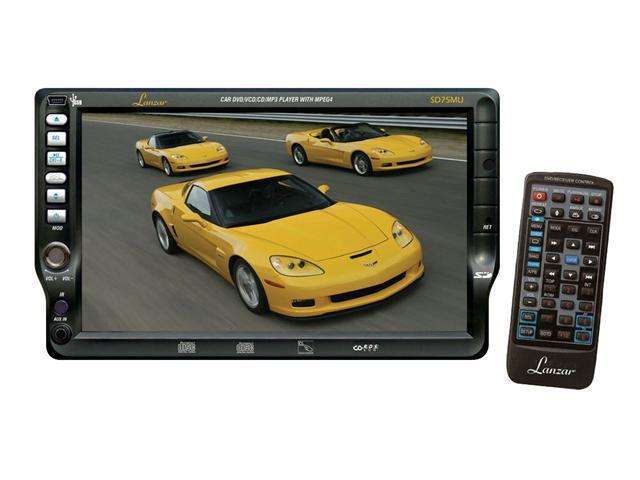 Lanzar - 7'' TFT Touch Screen DVD/VCD/CD/MP3/CD-R/USB/AM/FM/RDS Receiver (Refurbished)