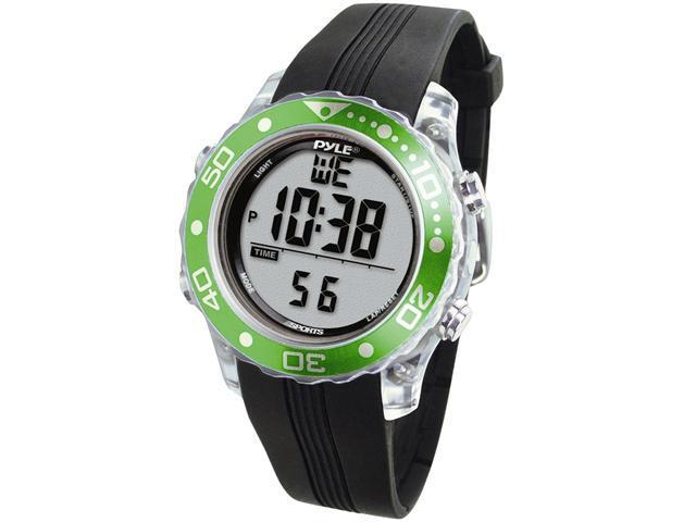Pyle - Snorkeling Master w/ Dive Duration, Depth, Water Temp.,  Max. 100 Dive Records, Dive Alarm When Emerging Too Fast (Green Color)