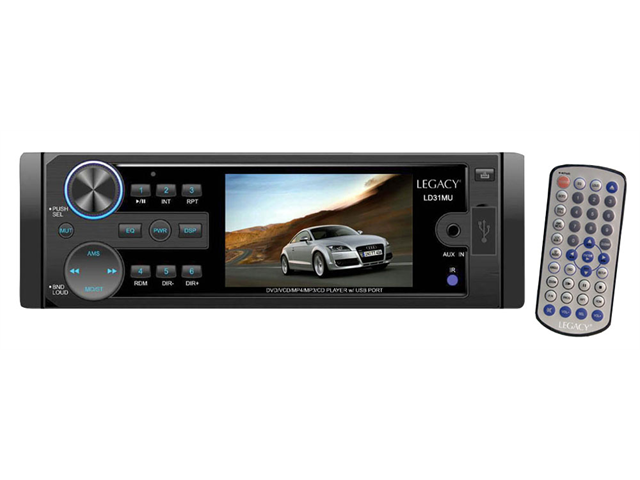 Legacy - 3'' TFT DVD/VCD/MP4/MP3/mp4/CD/CD-RW Compatible & USB Port (Refurbished)