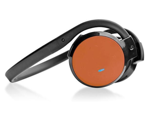 Pyle Home Audio PHBT5O Wireless Bluetooth 3.0 Headphones Technology w/ Mic(Orange)