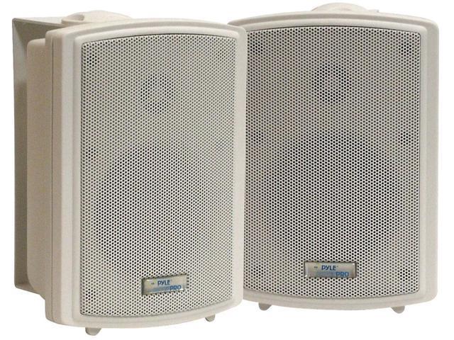 PyleHome - 3.5'' Indoor/Outdoor Waterproof Speakers w/15 Watt 70V Transformer