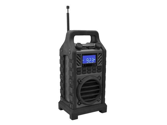 Pyle - Rugged and Portable Bluetooth Speaker with Durable Construction, Thick Rubber Casing, FM Radio, USB/SD Card Readers, AUX Input & Built-in ...