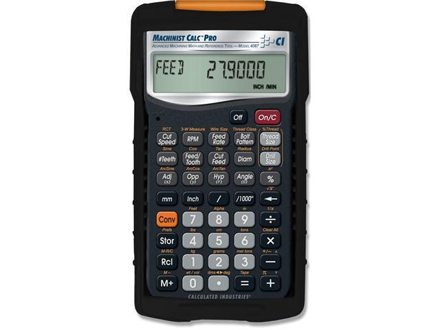 CALCULATED INDUSTRIES 4087 Machinist Calculator, Advanced