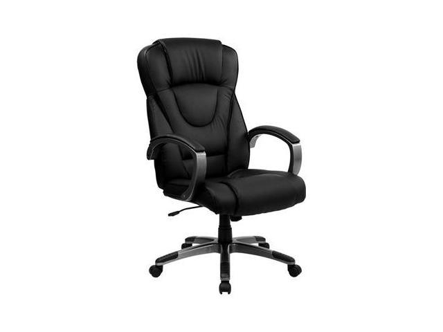 Flash Furniture High Back Black Leather Executive Office Chair [BT-9069-BK-GG]
