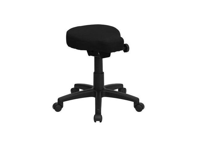 Flash Furniture Black Saddle-Seat Utility Stool with Height and Angle Adjustment [WL-1620-GG]