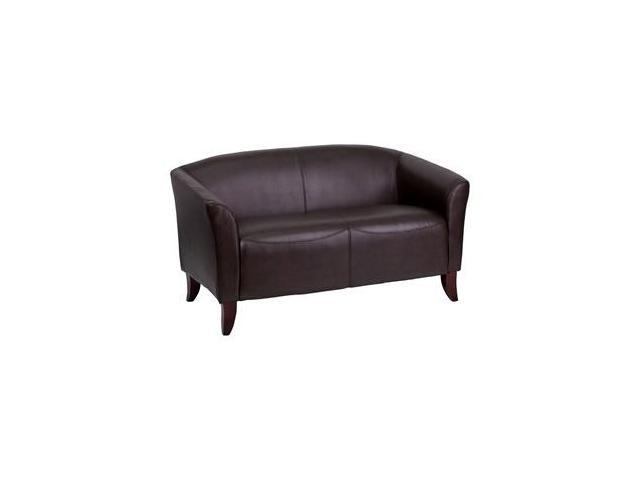Flash Furniture HERCULES Imperial Series Brown Leather Love Seat [111-2-BN-GG]
