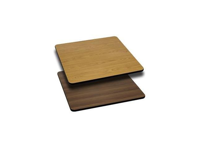 Flash Furniture 24'' Square Table Top with Natural or Walnut Reversible Laminate Top [XU-WNT-2424-GG]