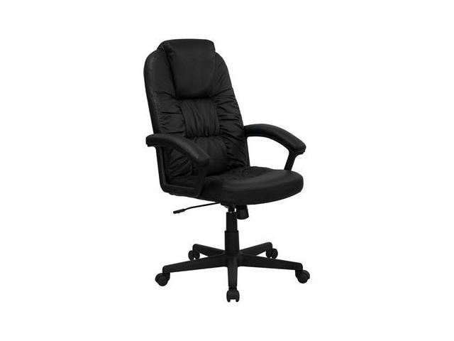 Flash Furniture High Back Black Leather Executive Swivel Office Chair [BT-983-BK-GG]