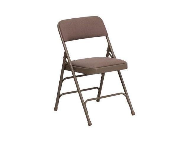 Flash Furniture HERCULES Series Curved Triple Braced & Quad Hinged Beige Fabric Upholstered Metal Folding Chair [HA-MC309AF-BGE-GG]