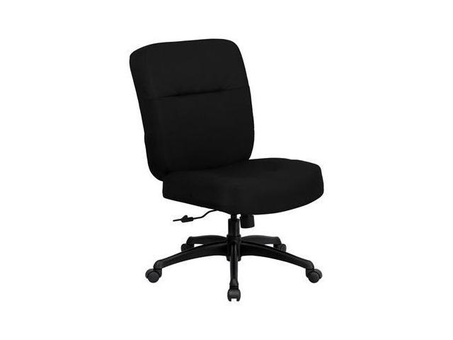 Flash Furniture WL-723ATG-BK-GG HERCULES Series 400 lb. Capacity Big & Tall Black Fabric Office Chair with Arms and Extra Wide Seat