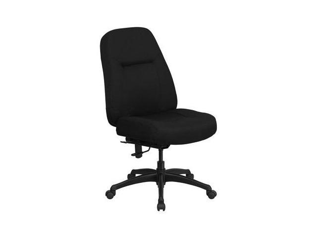 Flash Furniture HERCULES Series 400 lb. Capacity High Back Big & Tall Black Fabric Office Chair with Extra WIDE Seat [WL-726MG-BK-GG]