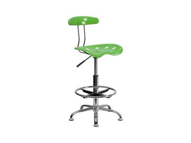 Flash Furniture Vibrant Spicy Lime and Chrome Drafting Stool with Tractor Seat [LF-215-SPICYLIME-GG]