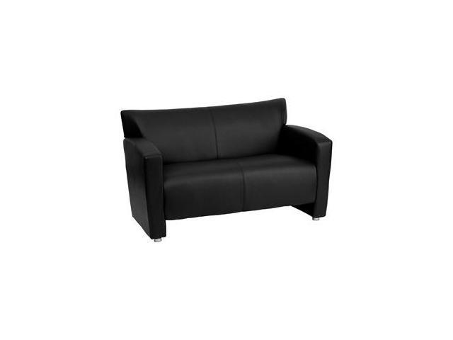 Flash Furniture HERCULES Majesty Series Black Leather Love Seat [222-2-BK-GG]