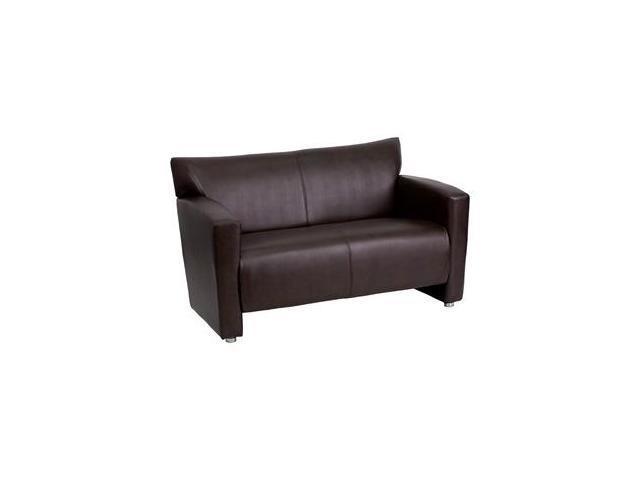 Flash Furniture HERCULES Majesty Series Brown Leather Love Seat [222-2-BN-GG]