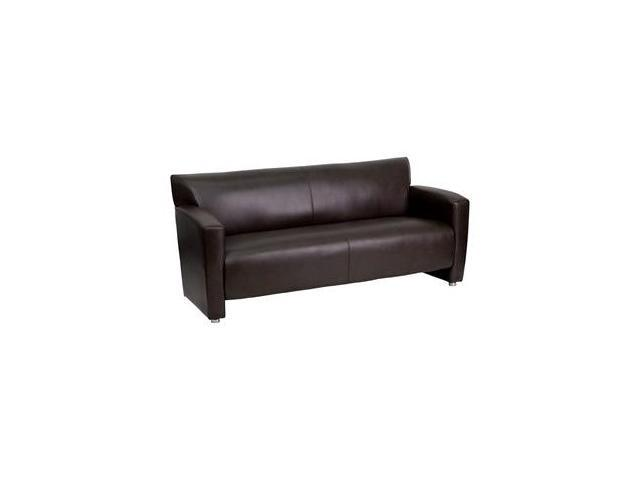 Flash Furniture HERCULES Majesty Series Brown Leather Sofa [222-3-BN-GG]
