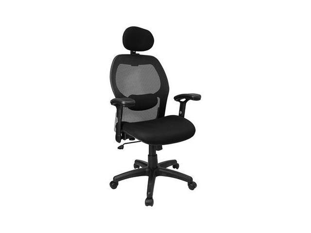 Flash Furniture High Back Super Mesh Office Chair with Black Fabric Seat [LF-W42B-HR-GG]